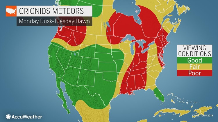 The Orionids, one of the 'top 5 meteor showers of the year,' will peak early next week