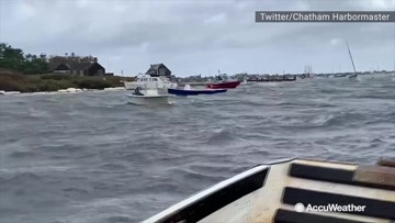 Winds stir up choppy seas along Cape Cod
