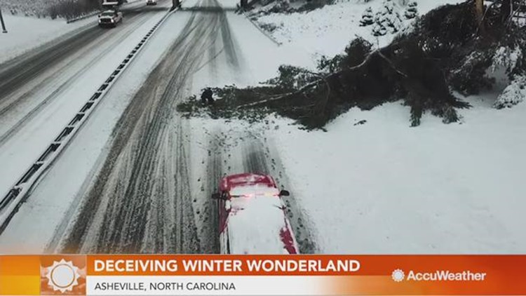 Deceiving winter wonderland causes power loss and businesses closed