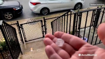 Marble-sized hail keeps coming
