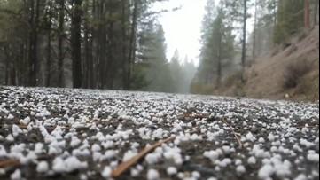 Graupel makes popcornlike noises as it pelts the ground