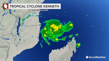 Tropical Cyclone Kenneth churns offshore as landfall approaches