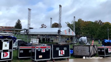 College GameDay crews battle weather weekly