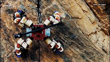 See NASA's 64-Fingered Robot Scale a Cliff to Advance Mars Tech