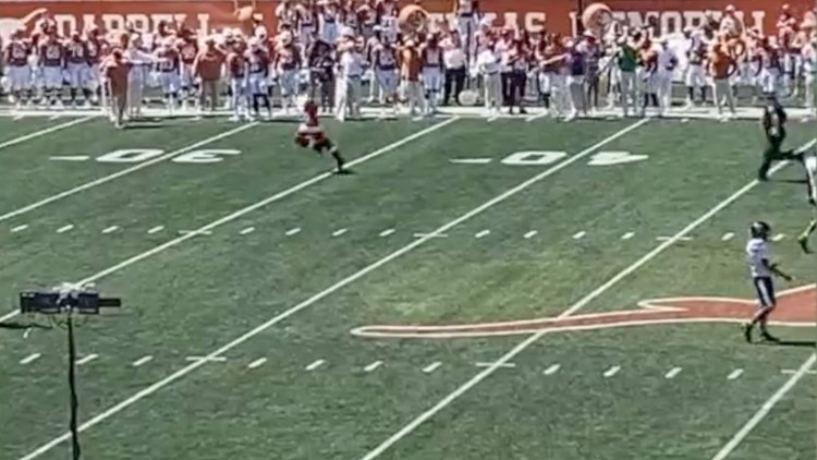 This Santa Really Can't Get Enough College Football, So He Had to Run on the Field!