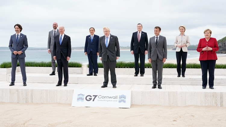G-7 nations gather to pledge 1B vaccine doses for world