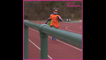 Nine-year-old runs to raise money for kids with cancer