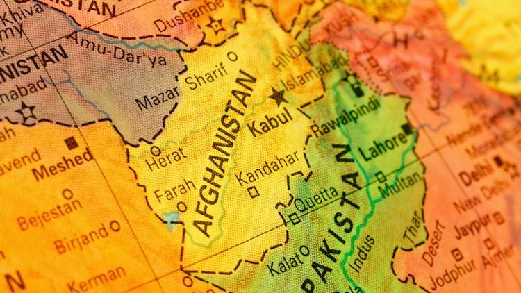 Afghanistan map globe