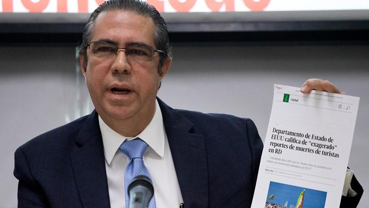 Dominican Republic Tourists' Deaths tourism official