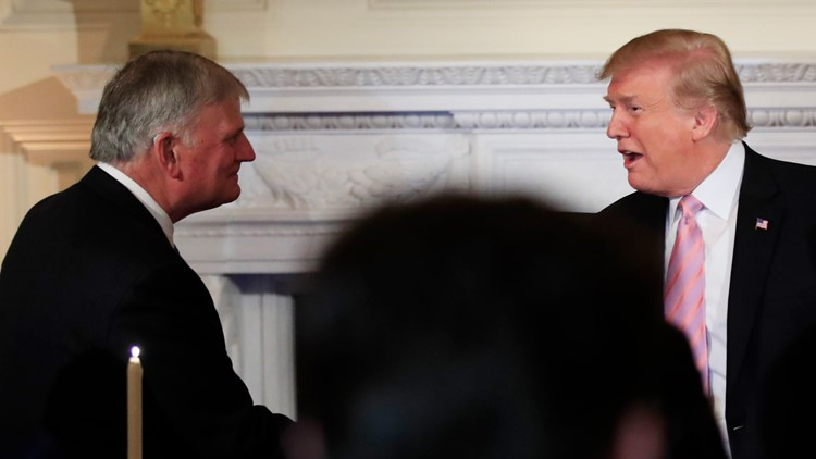 Trump and Franklin graham 2019