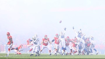 Chill out! Chiefs coach Andy Reid urges fans to stop throwing snowballs