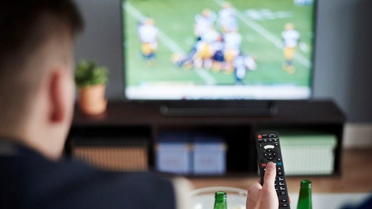 Watching football on TV