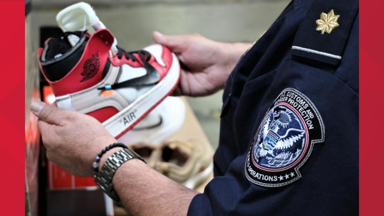 Nike CBP counterfeit shoes October 2019