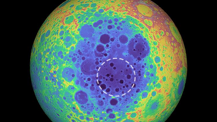 Moon mass South Pole-Aitken basin