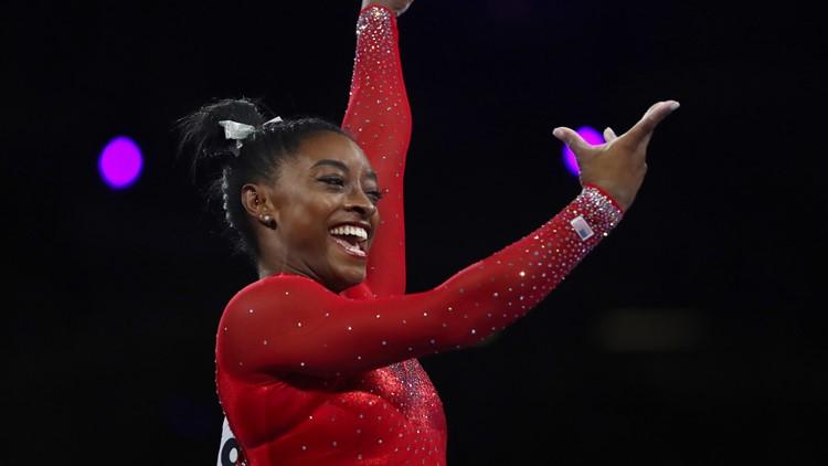 Simone Biles Germany Gymnastics World Championships vault