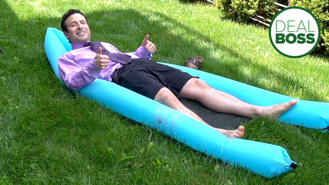 A Pool Float That Can Inflate Itself Dealboss