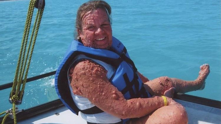 Gail Appelgren on boat