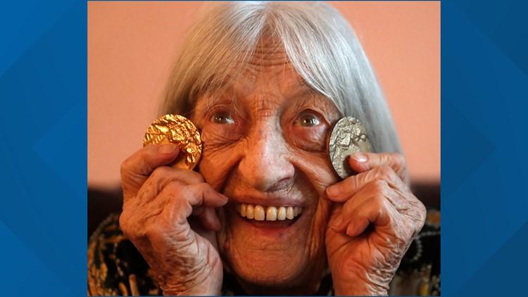 Hungary Oldest Olympic Champion Agnes Keleti AP