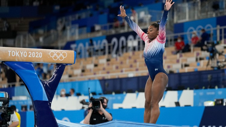 Biles sticks landing in balance beam, delivers in Olympic performance