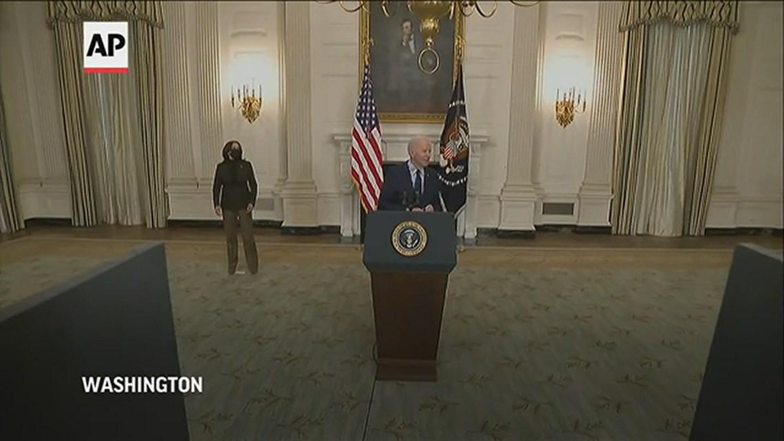 President Biden hails Senate passage of COVID-19 relief bill