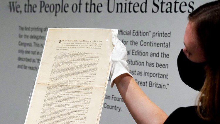 Sotheby's puts rare US Constitution copy for auction