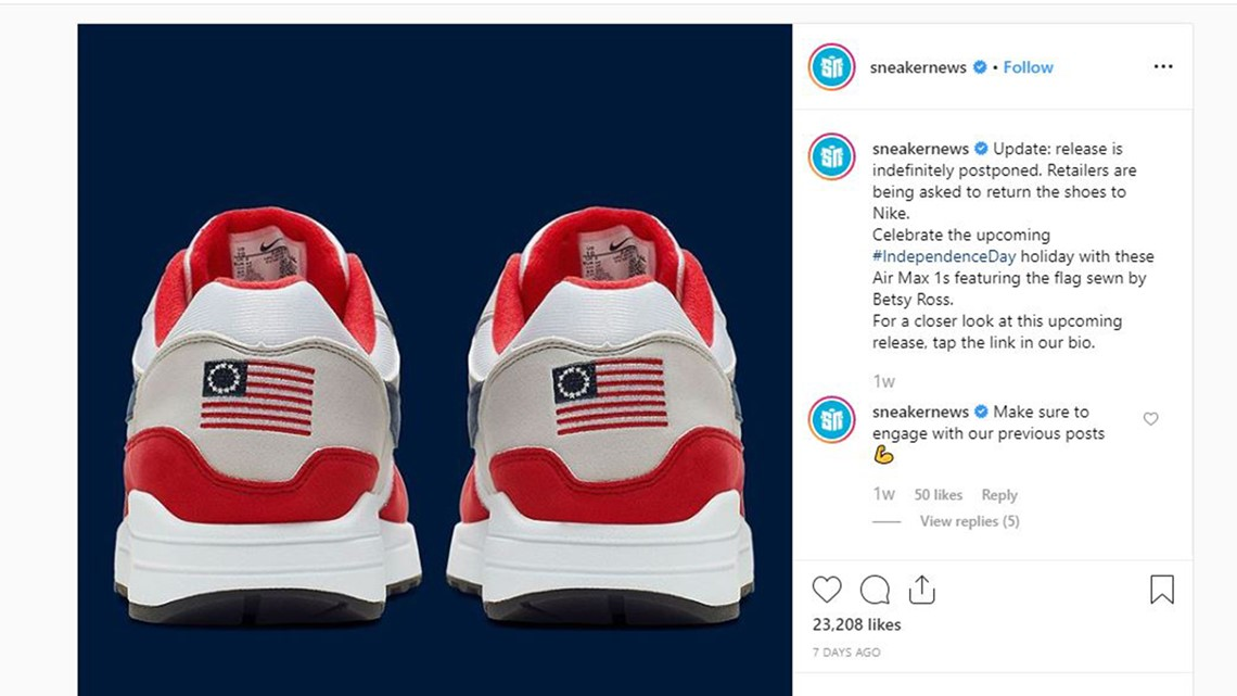 Nike Pulls 'Betsy Ross Flag' Shoes Over