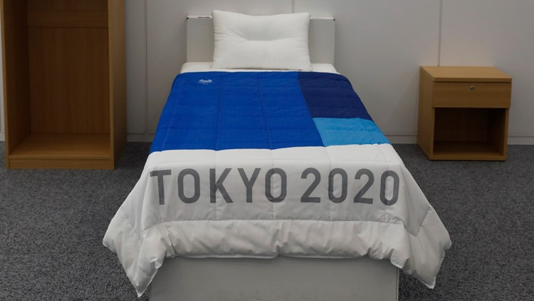 Olympics Tokyo Cardboard Beds front 2020