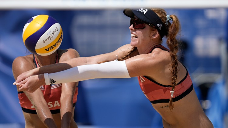 US pair knocked out of Olympic beach volleyball