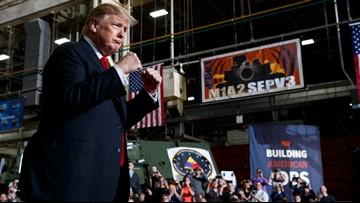 Trump ramps up attacks on late Sen. John McCain while touring Ohio tank plant