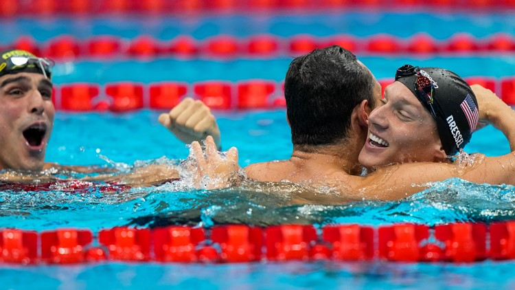 Caeleb Dressel wins 4th Olympic gold in 50-meter freestyle