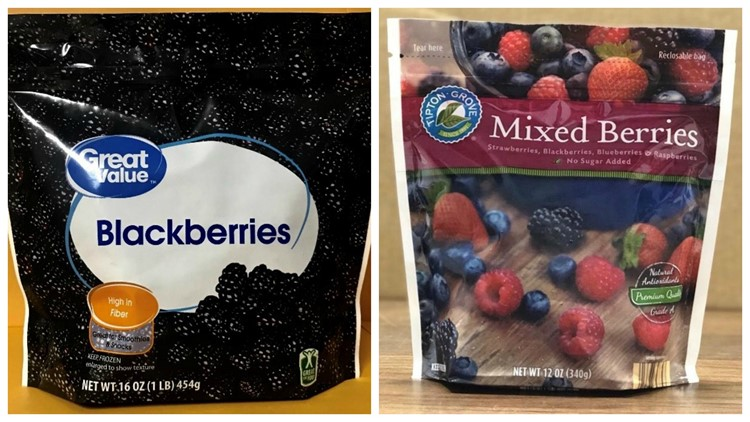 Frozen blackberries sold at Walmart, Save-A-Lot stores in NC recalled for possible norovirus
