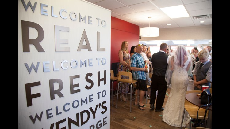 frying the knot utah couple married at wendy s restaurant