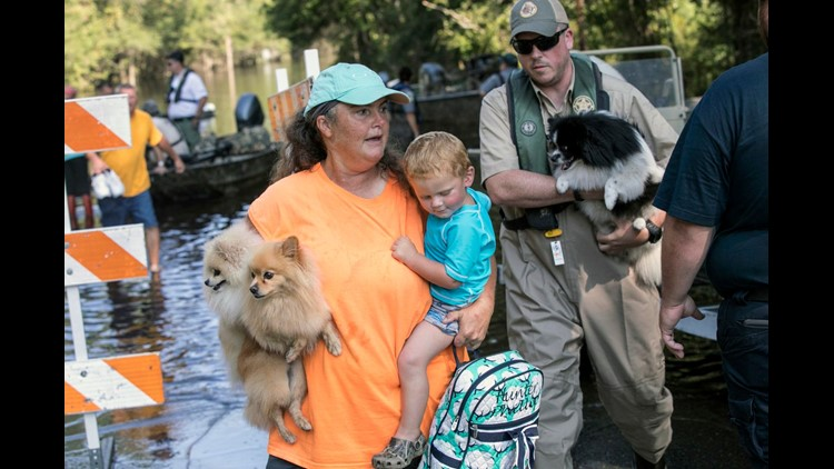 Major flooding lingers more than a week after Florence