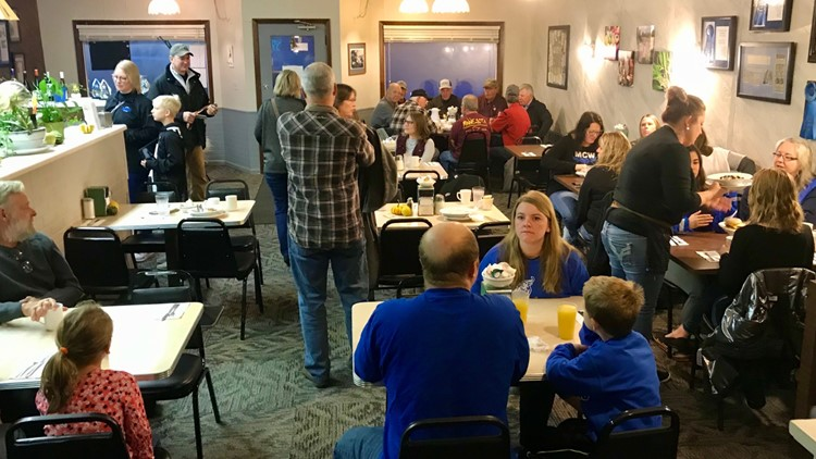 Full house for breakfast at the Cup N' Saucer