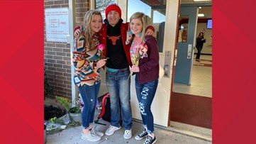 'What a precious heart he has'   High school student gives every girl a flower on Valentine's Day