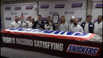 'Everything is bigger in Texas' | World's largest SNICKERS bar unveiled
