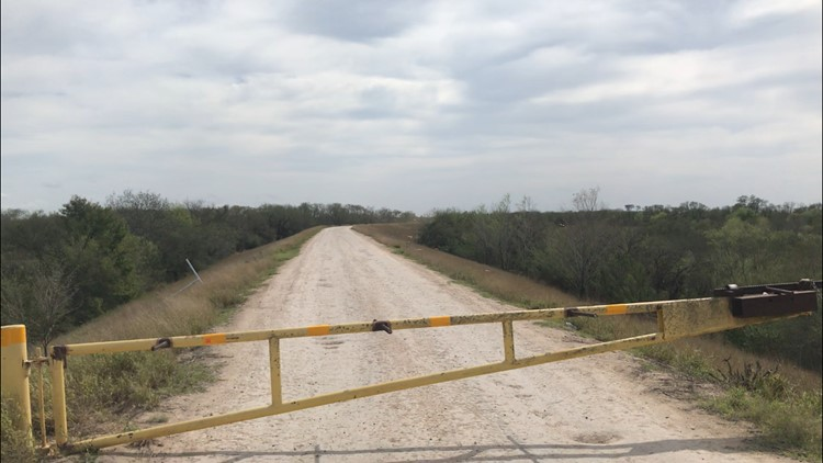 Border Patrol begins clearing brush to prepare for border wall construction on levee road in Mission, Texas.