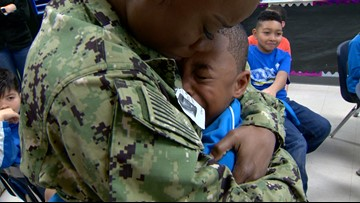'I missed her so much' | Mom returns from deployment, surprises sons