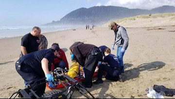 Woman 'Crushed' By Log After Wave Hits Oregon Beach