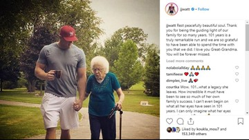 J.J. Watt Calls Out Twitter User Criticizing Him Using His Great-Grandmother's Passing