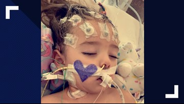 Little Girl Fighting For Her Life After Complications From Flu