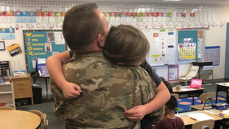 7's hero surprise return from deployment soldier