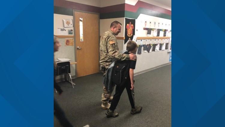 7'S HERO SOLIDER DAD REUNITES WITH SON
