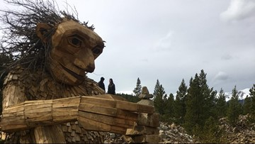 Giant 30-Foot Wooden Troll Makes A Come Back