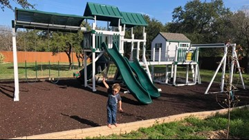 Family being sued by neighbor over playscape for terminally-ill son