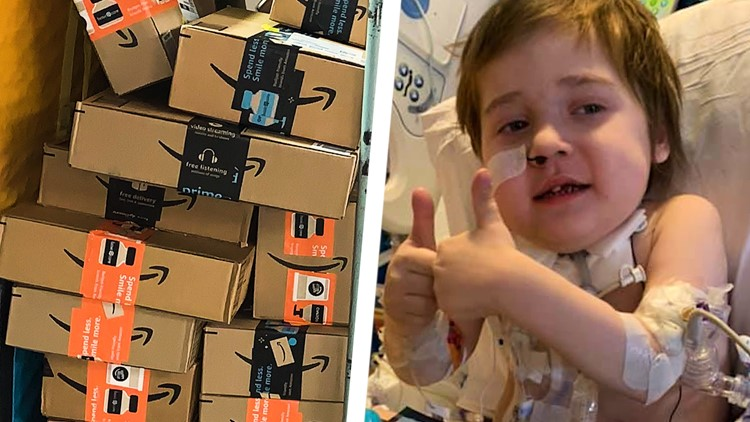 'I don't know if it's going to stop' | Hundreds of packages of stickers, cards sent to boy battling COVID-19