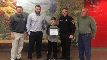Fifth-grade hero honored after saving choking student's life