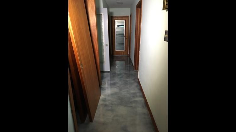 Hallways of the old Busch home where Rose Busch was murdered in 1968