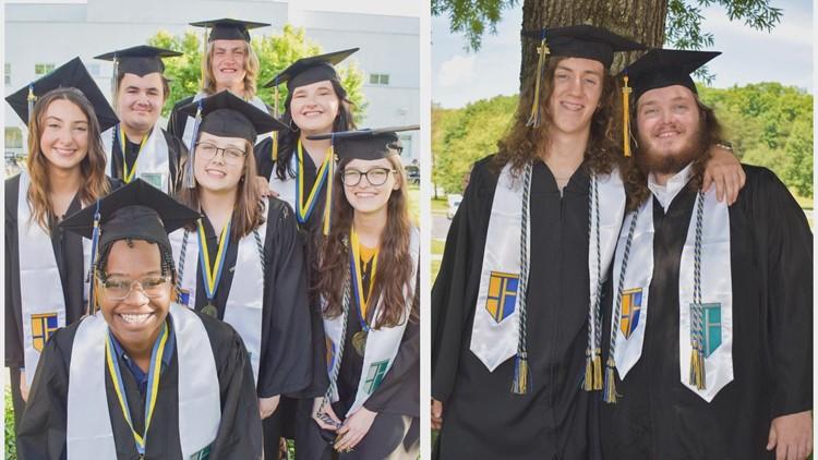 Record-setting 10 seniors graduate with associate degrees before high school diploma