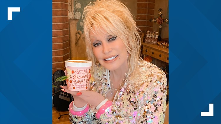 First batch of Dolly Parton-inspired ice cream, Strawberry Pretzel Pie, sold out
